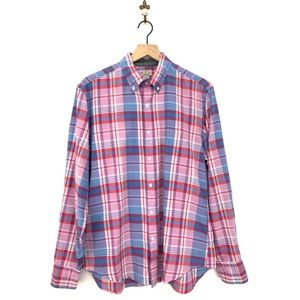 J.Crew Men's Plaid Button Down Shirt Size Medium
